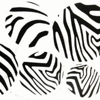 Wall Décor Plus More WDPM020  Black Zebra Print Large Dots Wall Sticker Vinyl Decal, 4 - 7 Inch, Black