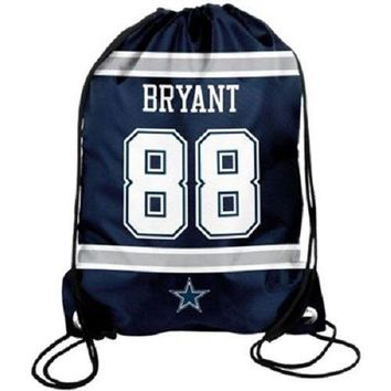 ESBON Dez Bryant #88 Dallas Cowboys Jersey Drawstring Backpack / Bag