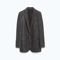 LONG HERRINGBONE JACKET