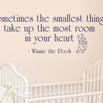 Winnie the Pooh Vinyl wall decal Custom Color Quote with Bear