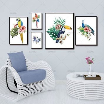 Wall Art Canvas Painting Posters And Prints Wall Prints Nursery Wall Pictures Cuadros Nordic Poster Decoration Parrot