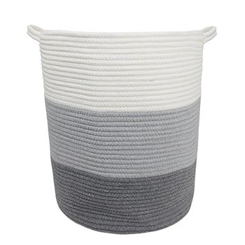 "Orino 18"" x 16"" Extra Large Storage Baskets Cotton Rope Woven Nursery Bins by"