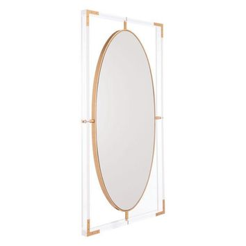 A11055 Lucite Rectangular Mirror Clear