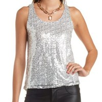 Sequin High-Low Tank Top by Charlotte Russe