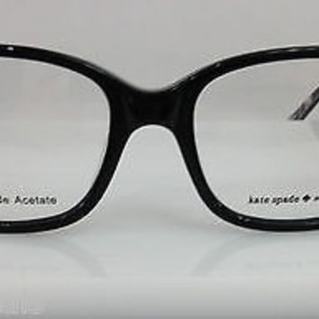 NEW AUTHENTIC KATE SPADE LINA COL 0X02 BLACK PLASTIC EYEGLASSES FRAME 50-17-135