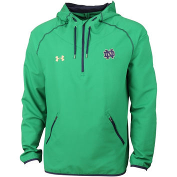 Notre Dame Fighting Irish Under Armour Lightweight Quarter-Zip Jacket – Kelly Green/Navy Blue