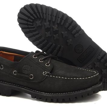 Timberland Boat Shoes Men Black