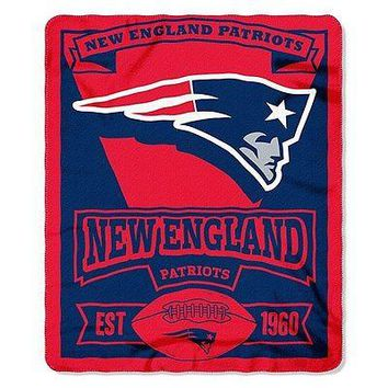 "New England Patriots 50"" x 60"" Fleece Blanket"