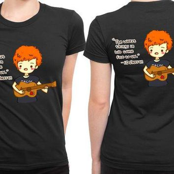 DCCKL83 Ed Sheeran Cartoon The Worse Thing 2 Sided Womens T Shirt