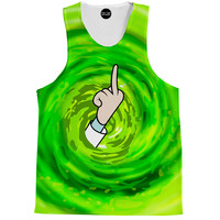 Rick and Morty Middle Finger Tank Top