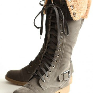 swiss nights lace-up boots at ShopRuche.com