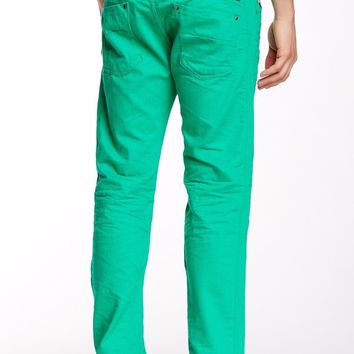 DIESEL Darron Vivid Green Slim Tapered Trousers Jeans