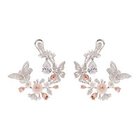 Anabela Chan | 'Butterfly Garland' diamond mother of pearl hoop earrings | Women | Lane Crawford - Shop Designer Brands Online