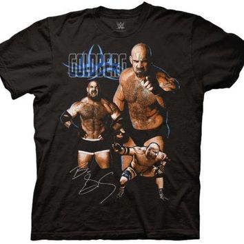 WWE Goldberg Collage Wrestling Licensed Adult T Shirt