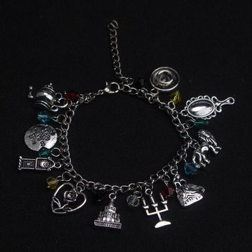 Factory Outlet Beauty and Beast Charm Bracelet Fashion Jewelry