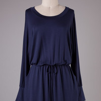 Navy Cafe London Knit Dress