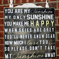 "Custom You Are My Sunshine Sign,Personalized Sign, Sign, Nursery Sign, Baby Sign, Wall Sign, Wall Art 18"" x 18"","