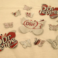Soda Can Butterflies from Recycled Diet Dr Pepper by ScrappyDoodads
