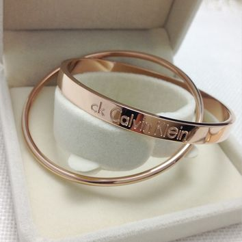 Fashion jewelry rose gold bracelet bicyclic CK