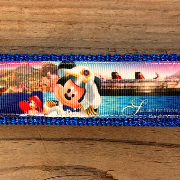 Disney Inspired Mickey Mouse Cruise Line Keychain, Key Fob, Accessories, Key Holder