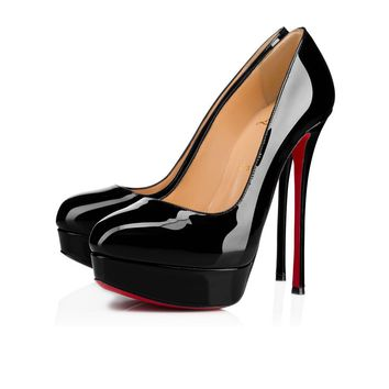 Christian Louboutin Cl Dirditta Black Patent Leather 18s Platforms 1180150bk01 -
