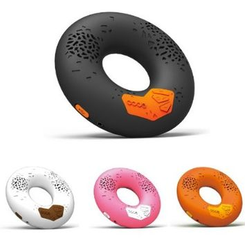 CODE Donut Premium Portable Wireless Bluetooth Speaker with NFC Tag (Black, Dual Drivers, Built-in Speakerphone, 8-hour Play Time)