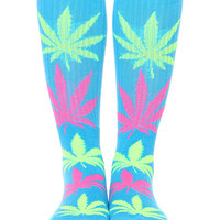 NEON BLUE PLANTLIFE SOCKS - Neon Blue