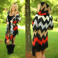 Loving Fall Chevron Cardigan