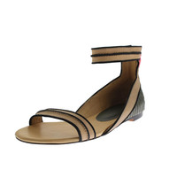 L.A.M.B. Womens Ciara Leather Open-Toe Flats