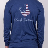 American Toasting Man Long Sleeve Pocket Tee Shirt | Rowdy Gentleman