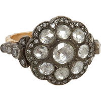 Olivia Collings Antique Jewelry Diamond Rose Ring at Barneys.com