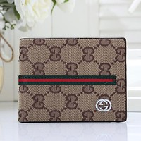 GUCCI Men Fashion Leather Purse Wallet