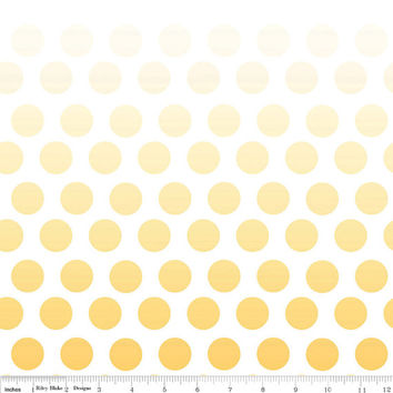 Ombre Yellow Polka Dot Cotton Fabric by Riley Blake Designs, 1 Yard, more yardage available