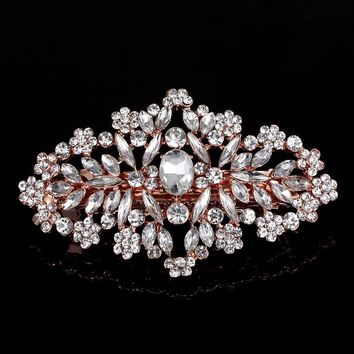 New Arrival White Flower Bridal Hair Comb Pin Rhinestone Crystal Wedding Hair Accessory Women Jewelry Couple hairpins