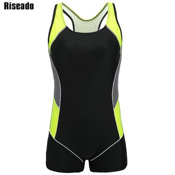 Riseado Competition Swimsuit 2018 One Piece Swimwear Women Swimming Suits Sport Training Swim Wear Splice Bodysuits
