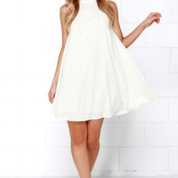 JOA Skies Above Ivory Swing Dress
