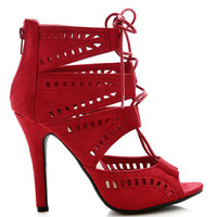 Restricted Cutout Heels | Trendy Heels at Pink Ice