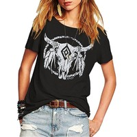 RealChicksRule™ Buffalo Dream Catcher Graphic T-Shirt