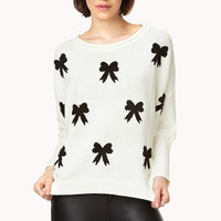 Cozy Bow Dolman Sweater