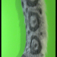 Realistic Faux Fur Furry Snow Leopard Tail for Fursuit Costume Cosplay