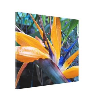 Bird of Paradise 2 Floral Canvas Print
