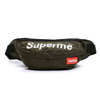 Men's and Women's Supreme Chest Pockets Oxford Casual Riding Bag  052