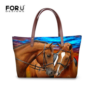 FORUDESGISNS Women Animal Handbags Crazy 3D Horse Woman Bags Large Cross-body Bag Shoulder Messenger Bag Bolsas Feminine Tote