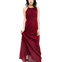 Halter Neck Chiffon Maxi Dress