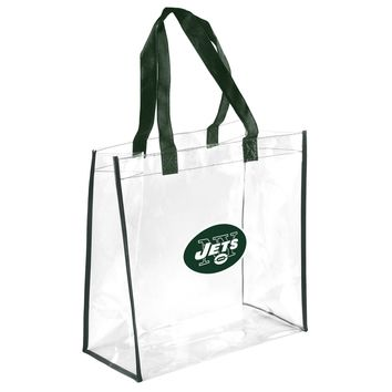 New York Jets Clear Reusable Plastic Tote Bag NFL 2017 Stadium Approved