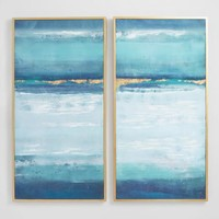 Blue Crush by Elinor Luna Diptych Wall Art Set of 2