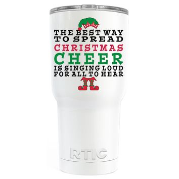 RTIC The Best Way to Spread Christmas Cheer on White 30 oz Tumbler Cup