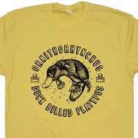 Duck-Billed Platypus T Shirt Funny Animal T Cool Animal Shirt