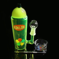NEW 20cm Colored pipe glass bong Water pipe Glass Bongs with Imported Color Glass Container jiont 14.4MM