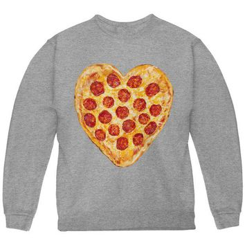 DCCKU3R Pepperoni Pizza Heart Youth Sweatshirt